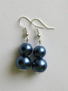 biżuteria z półfabrykatów - perły (kolczyki)
