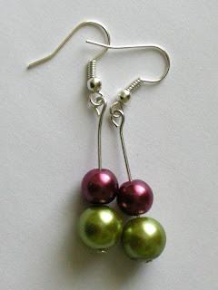biżuteria z półfabrykatów - perły wersja 2 (kolczyki mieszane)