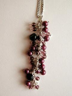 biżuteria z półfabrykatów - jagodowe pole