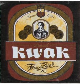 Этикетка бельгийского пива Kwak