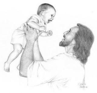 Jesus riendo
