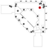 A piros pötty jelzi a Service Center helyét