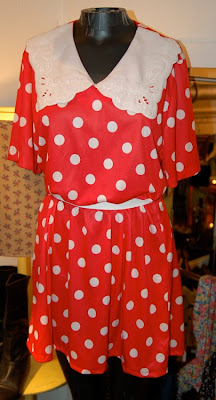 White Polka  Dress on Sweet Virginia Brooklyn  December 2009