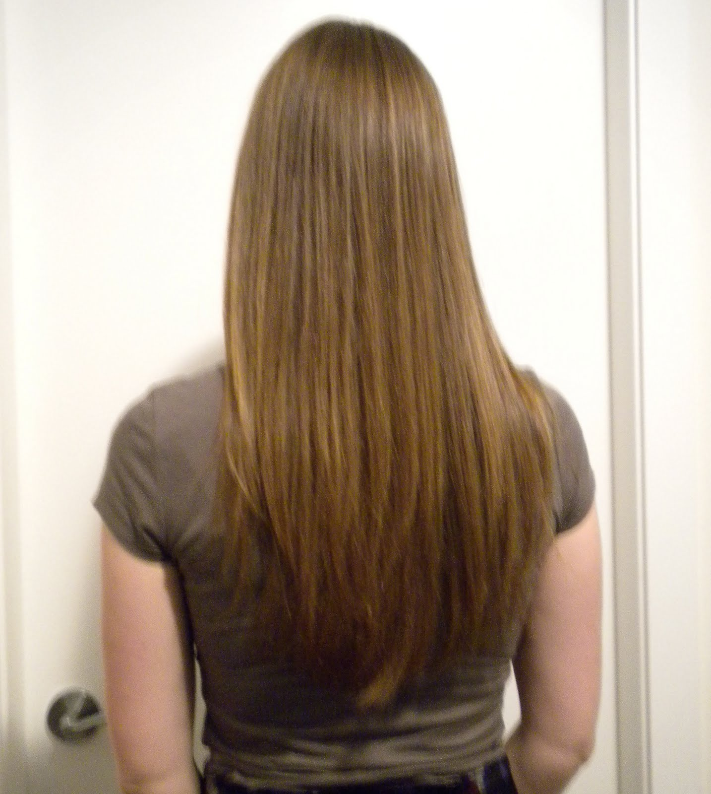 Long Layered Hair Back View