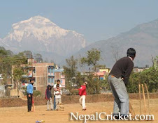 Cricket Playing in Baglung Campus Ground