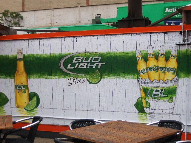 Zeezee chalkboards classy custom chalkboards for home and business bud light lime mural at hooters downtown toronto aloadofball Images