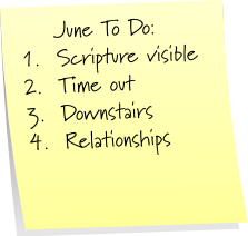 June Post It Note