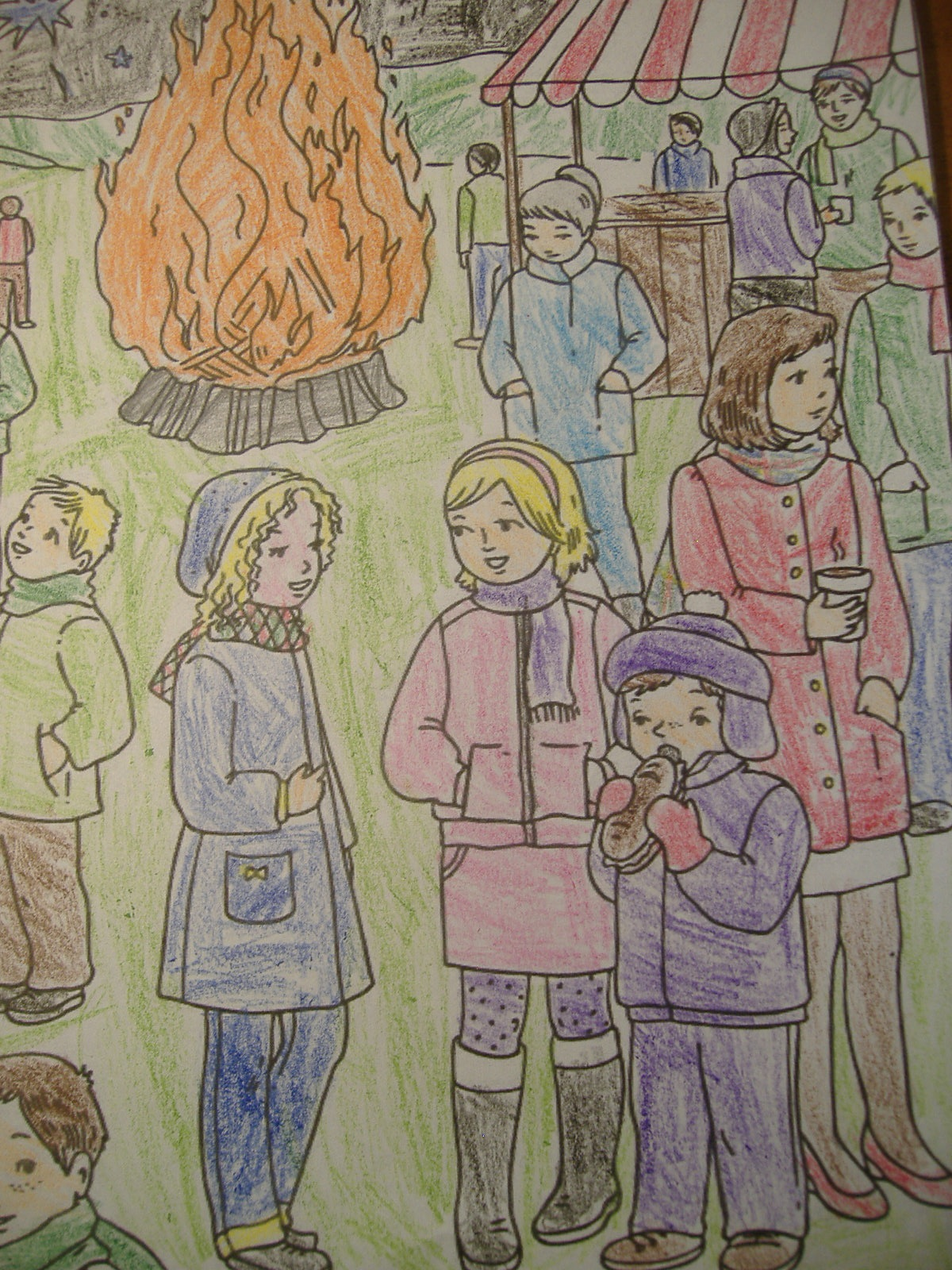 Porter\'s Primary: Colouring Pages - Bonfire Night
