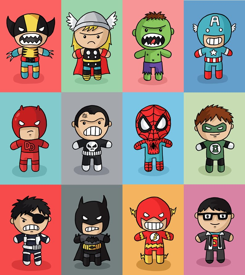 Squid Bits!: New Superhero Prints!