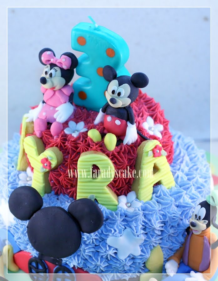 Mickey Mouse Cream Cake Tutorial