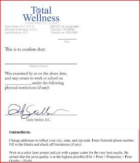 INFORMATION CENTER: Download Fake Doctors Notes