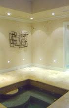 Limestone Ventian plaster spa