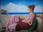 Personalized Godward reproducton painting