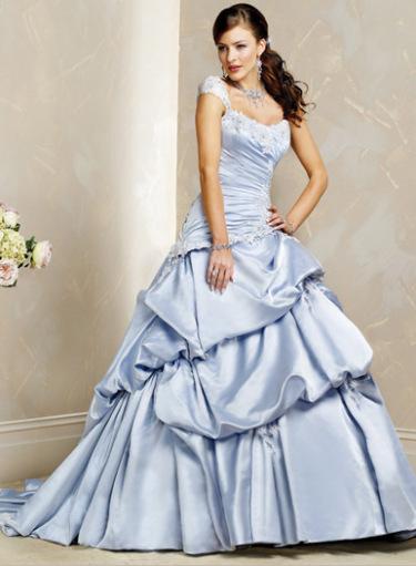 Blue Wedding Dress Colors : Colored wedding dresses