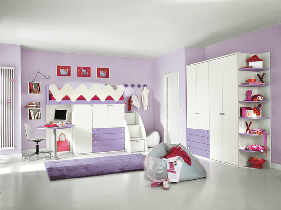 Dormitorios infantiles dormitorio minimalista para ni os for Cuartos para ninas pequenos