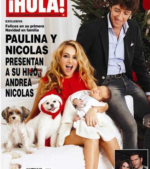 PAULINA RUBIO Y ANDREA NICOLAS HIJO EN PORTADA HOLA