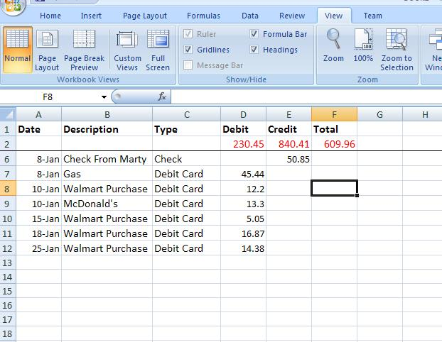 Meganlburnett How To Create A Basic Excel Ledger In 10