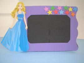 porta retrato barbie