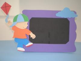 porta retrato menino pipa