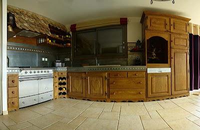 au bois de rose cuisines en chene et zinc. Black Bedroom Furniture Sets. Home Design Ideas