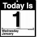 Vandaag woensdag, morgen...