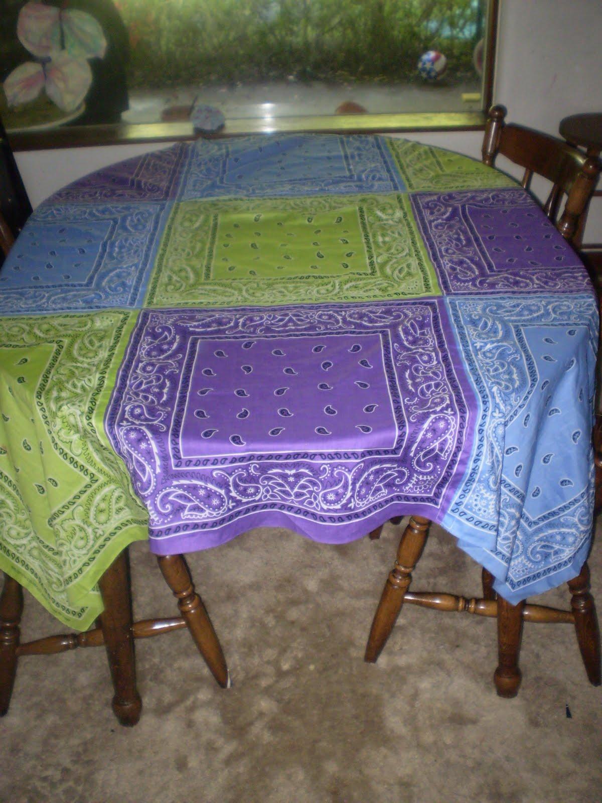 Maebellecreations And Musings Bandana Tablecloth