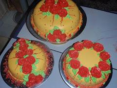 3 tiers  kek steambuttercream