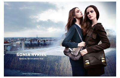 Anna de Rijk and Katie Fogarty by Horst Diekgerdes for Sonia Rykiel AD Campaign AW 2010