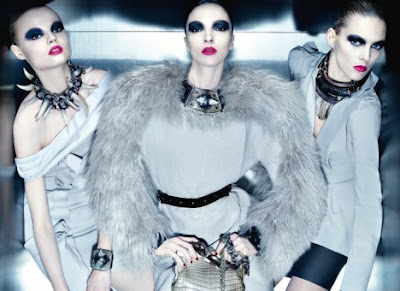 Anja Rubik, Magdalena Frackowiak and Mariacarla Boscono by Steven Meisel for Lanvin AD Campaign AW 2010