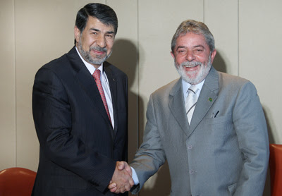Presidente Lula e Embaixador da Palestina no Brasil