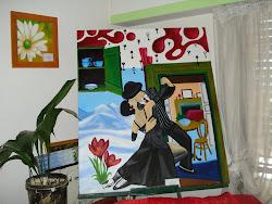 Collage en óleo