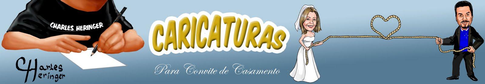 CARICATURAS PARA CONVITE DE CASAMENTO