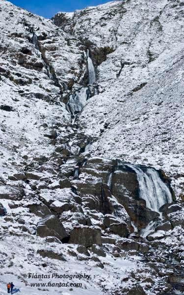 Mahon Falls Winter Scene