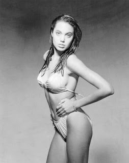 naked angelina jolie sexy in nude bikini with brad pitt