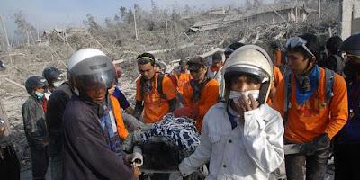 pencarian korban letusan gunung merapi