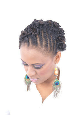 Natural Hairstyles Twist Updo