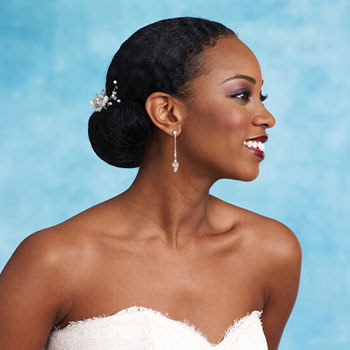African American Wedding Hairstyles & Hairdos: Bridal Bun Roll