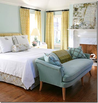 My finer consigner tried and true happy color schemes - Blue white yellow bedroom ...
