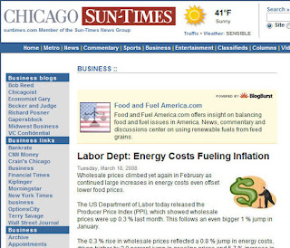 Chicago Sun Times Food and Fuel America food vs fuel debate