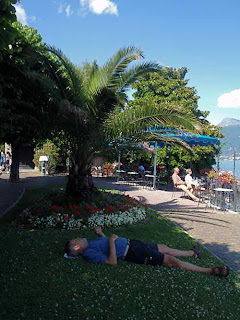 Wayne Napping on Lake Como, Italy