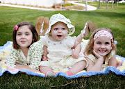 Three Happy Little Girls.