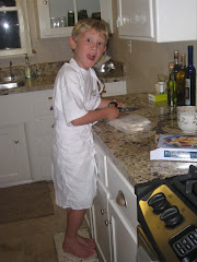 Quinn LOVES to cook!
