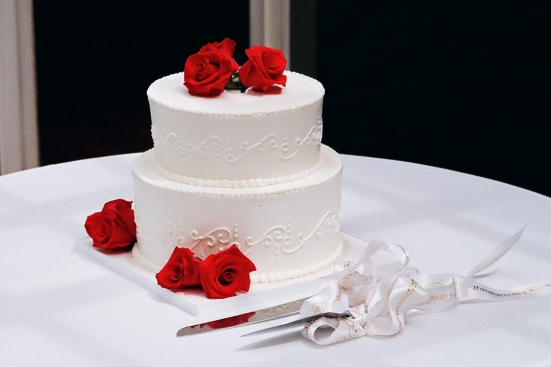 Tiers of Joy Cakery Elegant Wedding Cake with Roses