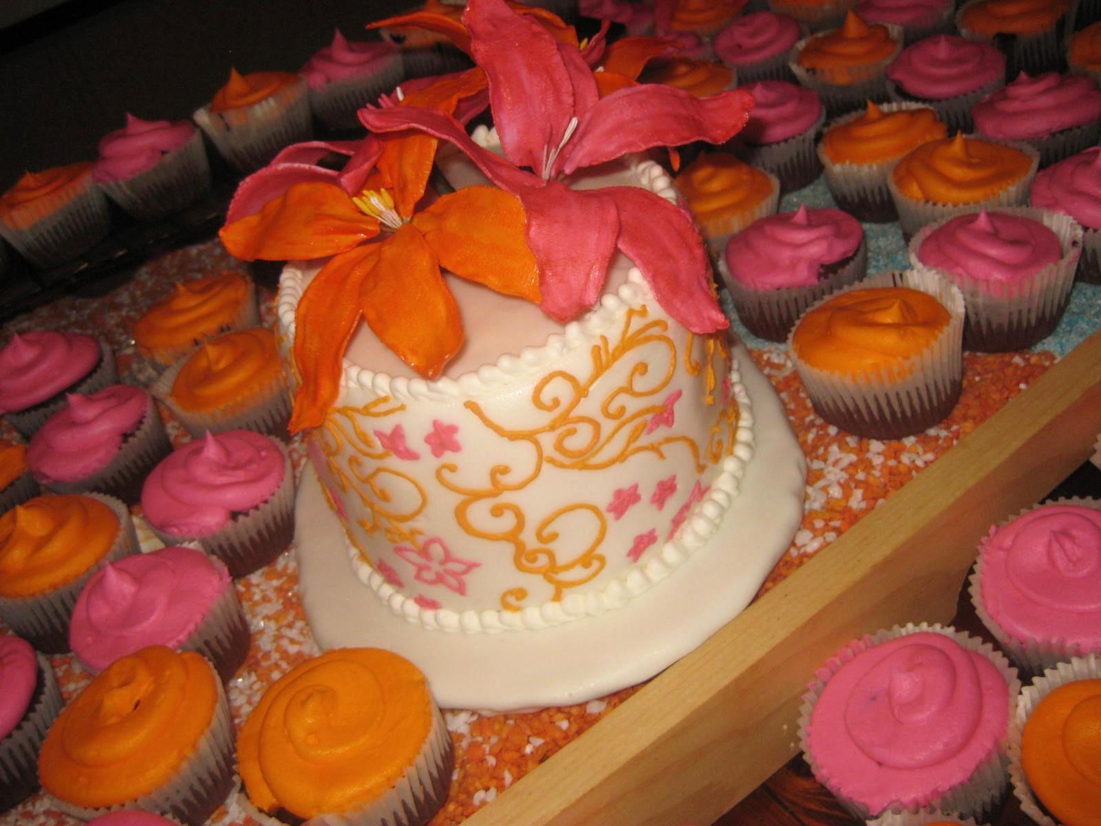 Second Generation Cake Design Beach Themed Wedding Cupcake Cake