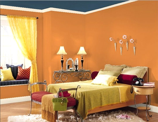 Arslan paints okara nice paint on wall for Bedroom painting ideas india