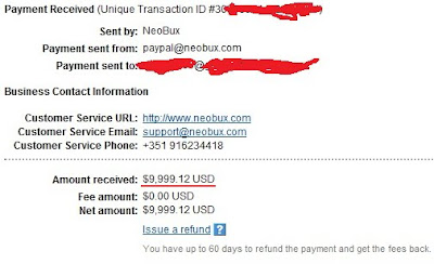 плащане от neobux в paypal