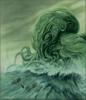 Cthulhu hitting the snooze button on his alarm clock before he wakes up and rapes the collective minds of the human race.