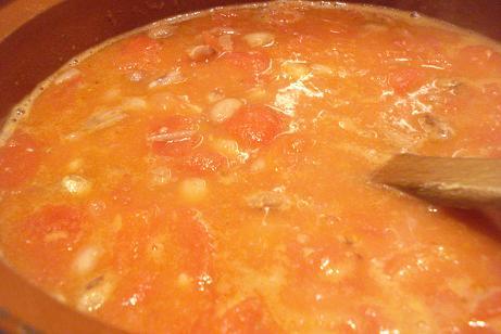 Alubias pintas en salsa picante fagioli borlotti in salsa - Como cocinar alubias pintas ...