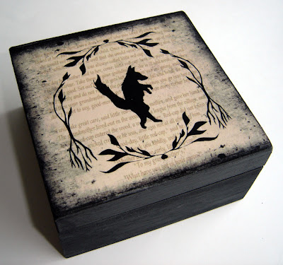 Dark Forest Wolf Keepsake Box