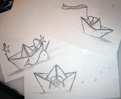 Paper Boat Illustrations by Gumball Grenade